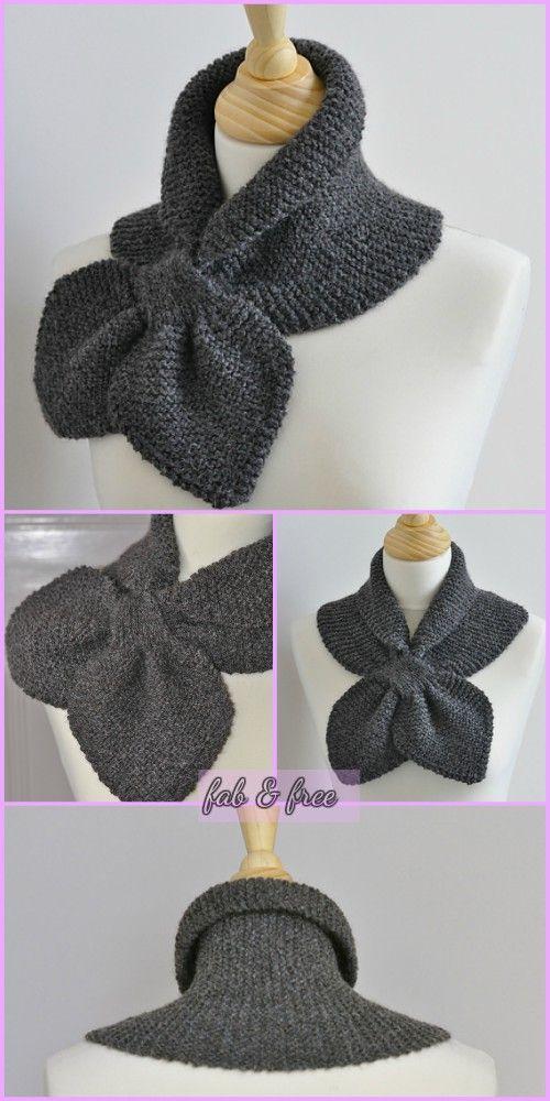 Keyhole Knit Heart to Heart Scarf Miss Marple Scarf Free Patterns ...