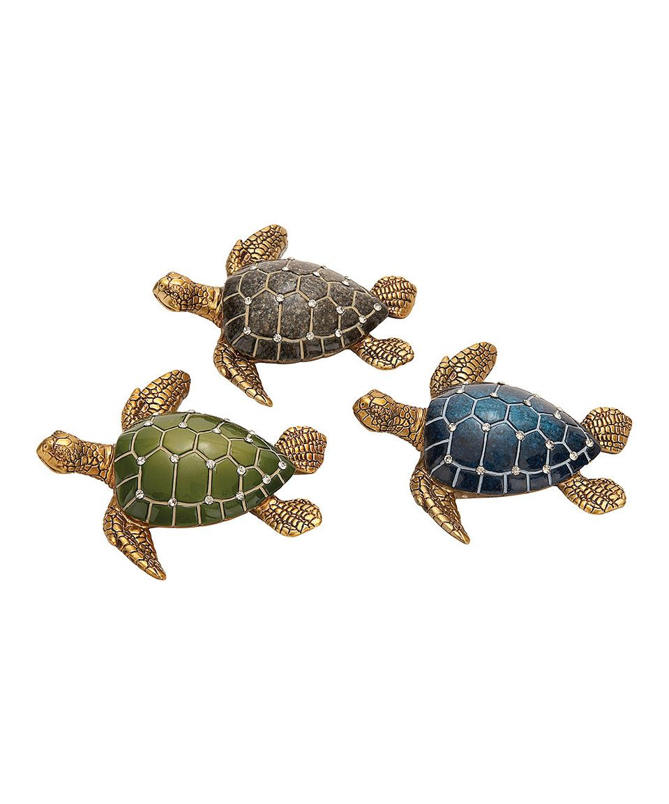 This turtle figurine set by is perfect zulilyfinds turtles