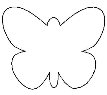 photograph regarding Printable Butterfly Template known as 25 Clean Paper Crafts for Spring artwork Options Butterfly