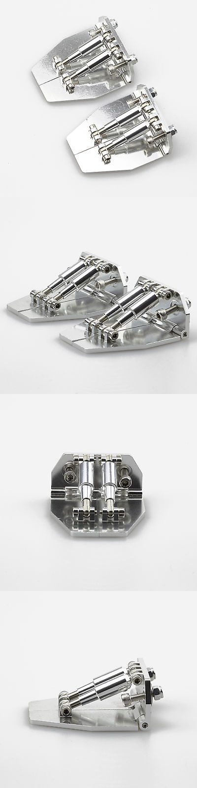 2PC CNC Aluminum Trim Tabs 51mm x 62mm x 26mm Silver for Medium-Size RC Boat