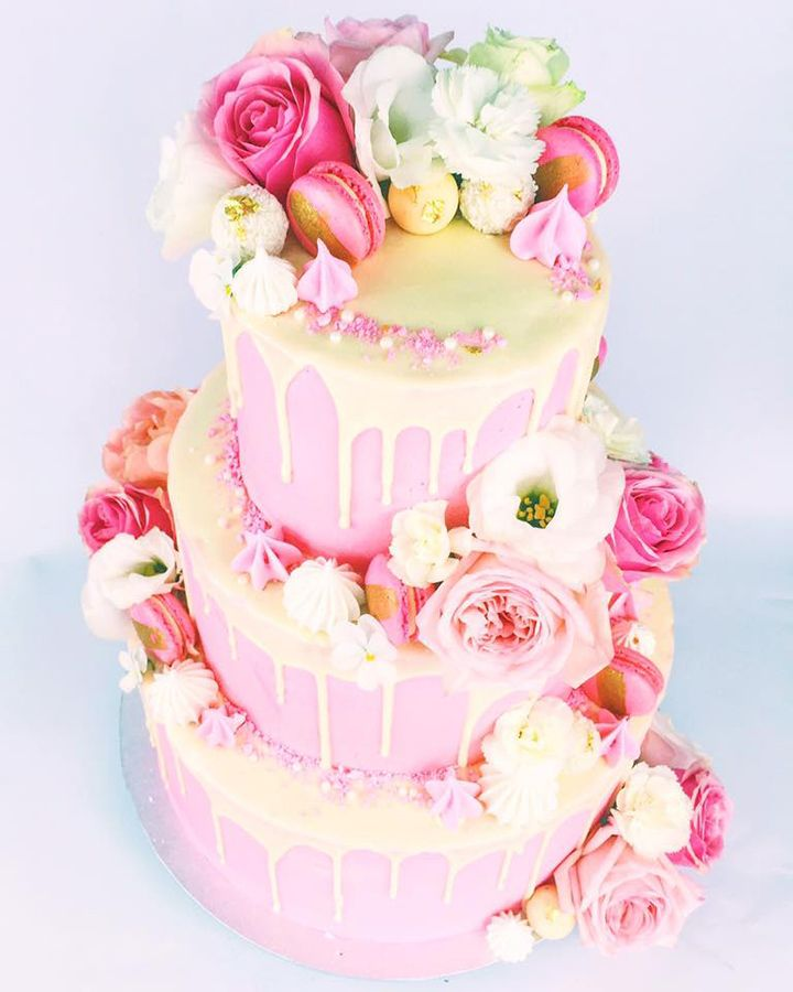 pink and yellow wedding cake ideas 26 fantastical drip wedding cakes wedding cake and cake 18565