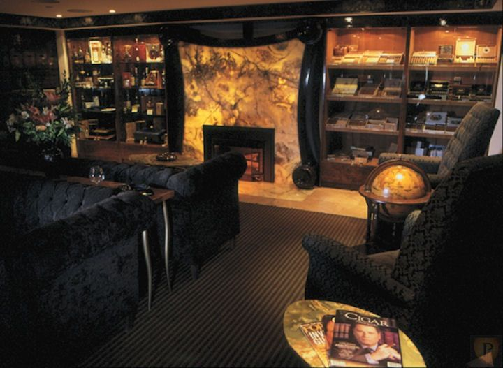 Cigar Lounge I Love The Idea Of The Fireplace Maybe Having It So That The Fire Itself Lights It Up And When There I Cigar Lounge Cigar Room Gentlemans Lounge