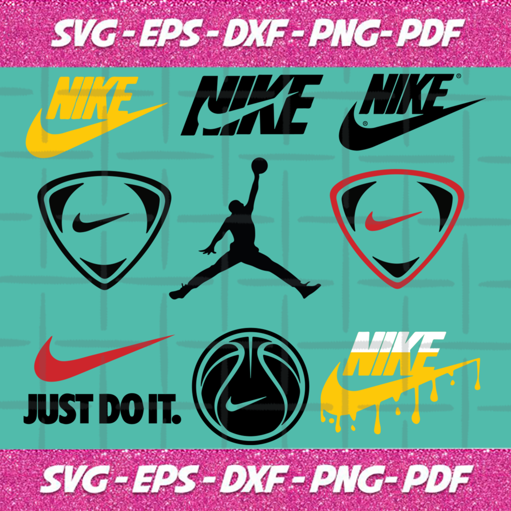 Nike Logo Bundle SVG Files For Silhouette, Files For