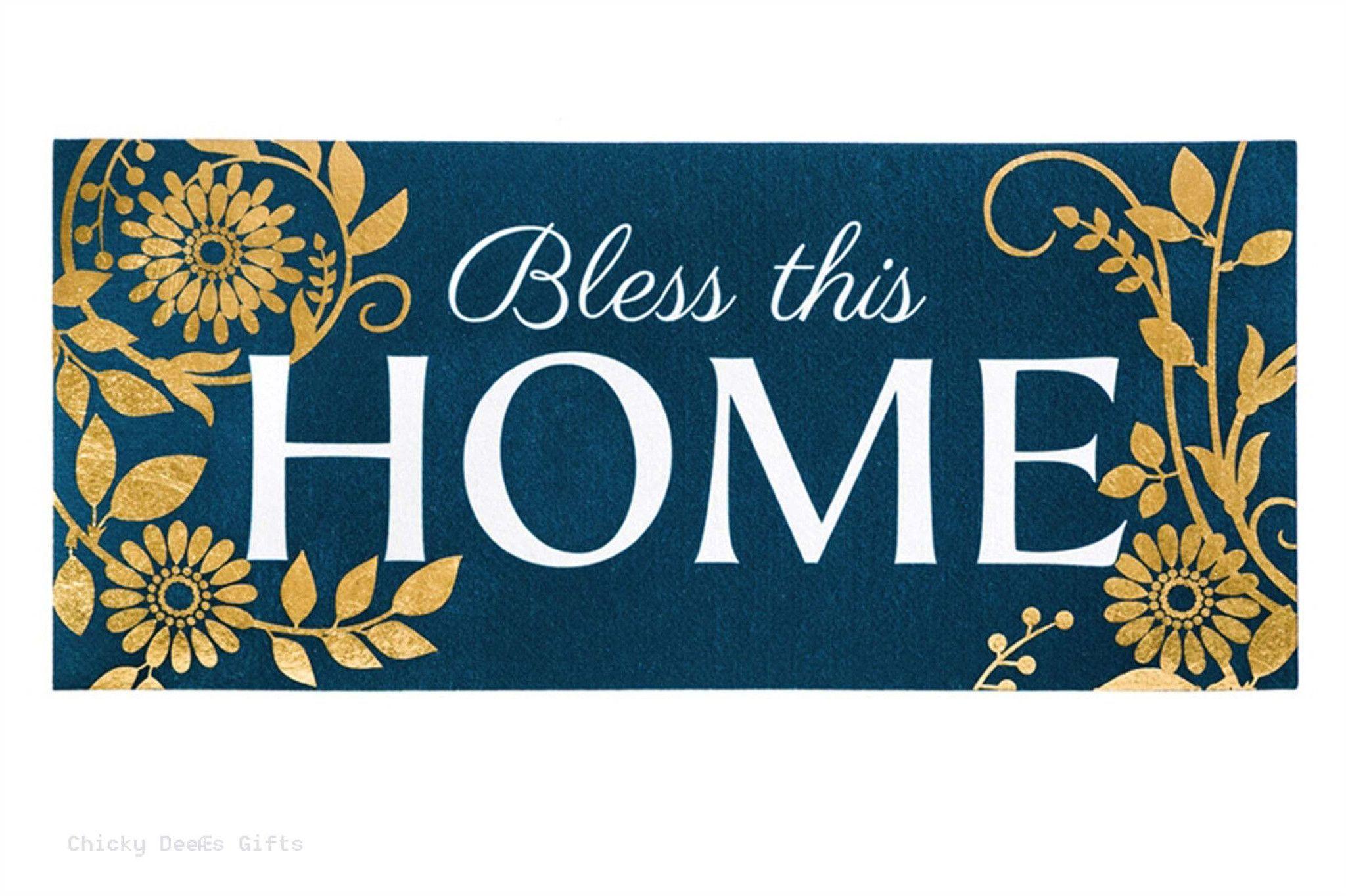 Evergreen Sassafras Switch Mat Garden Bless This Home 431163BL