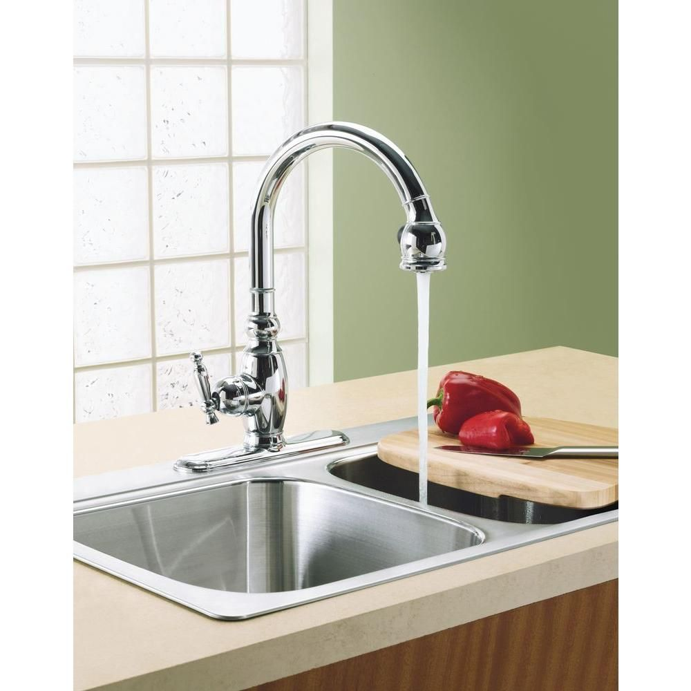 kohler vinnata single-handle pull-down sprayer kitchen faucet in
