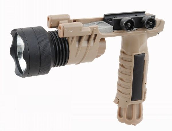 M910B Halogen Lamp Vertical Foregrip Weapon Flashlight Tan