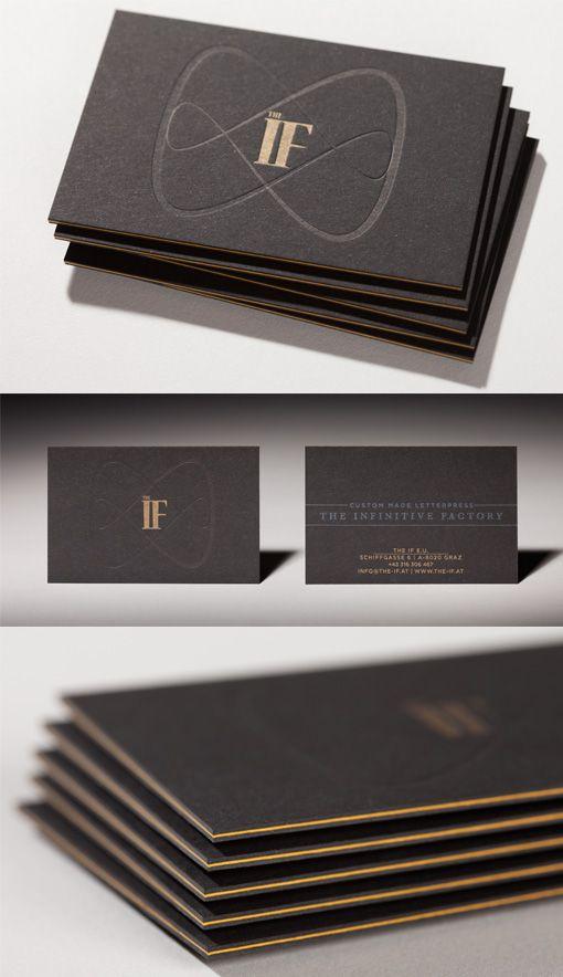 Sleek black edge painted letterpress business card design god in sleek black edge painted letterpress business card design reheart Image collections