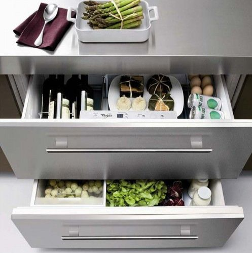 P Whirlpool Under Counter Refrigerator Drawers Kitchen Drawer