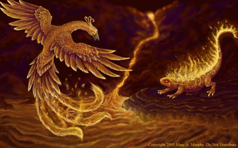 The Phoenix And The Salamander Where Both Symbols Of Fahrenheit 451