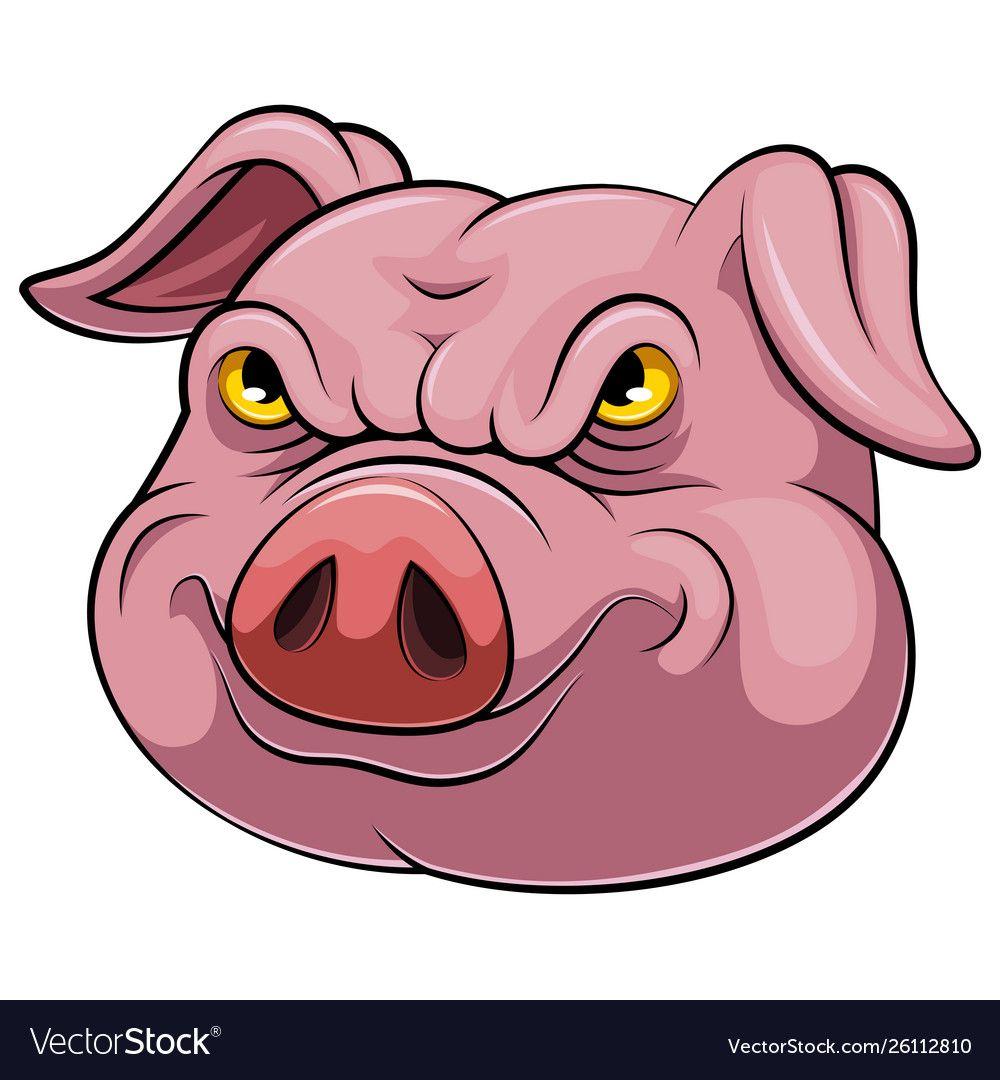 Head An Pig Cartoon Royalty Free Vector Image Vectorstock Pig Cartoon Cartoon Cartoons Vector