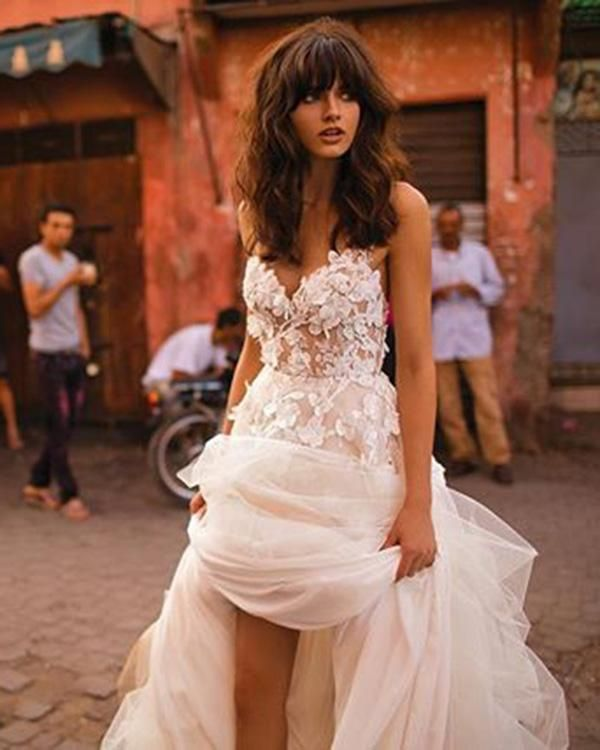 Photo of Fashion 2020 Summer Beach Wedding Dresses Sweetheart Lace 3D…