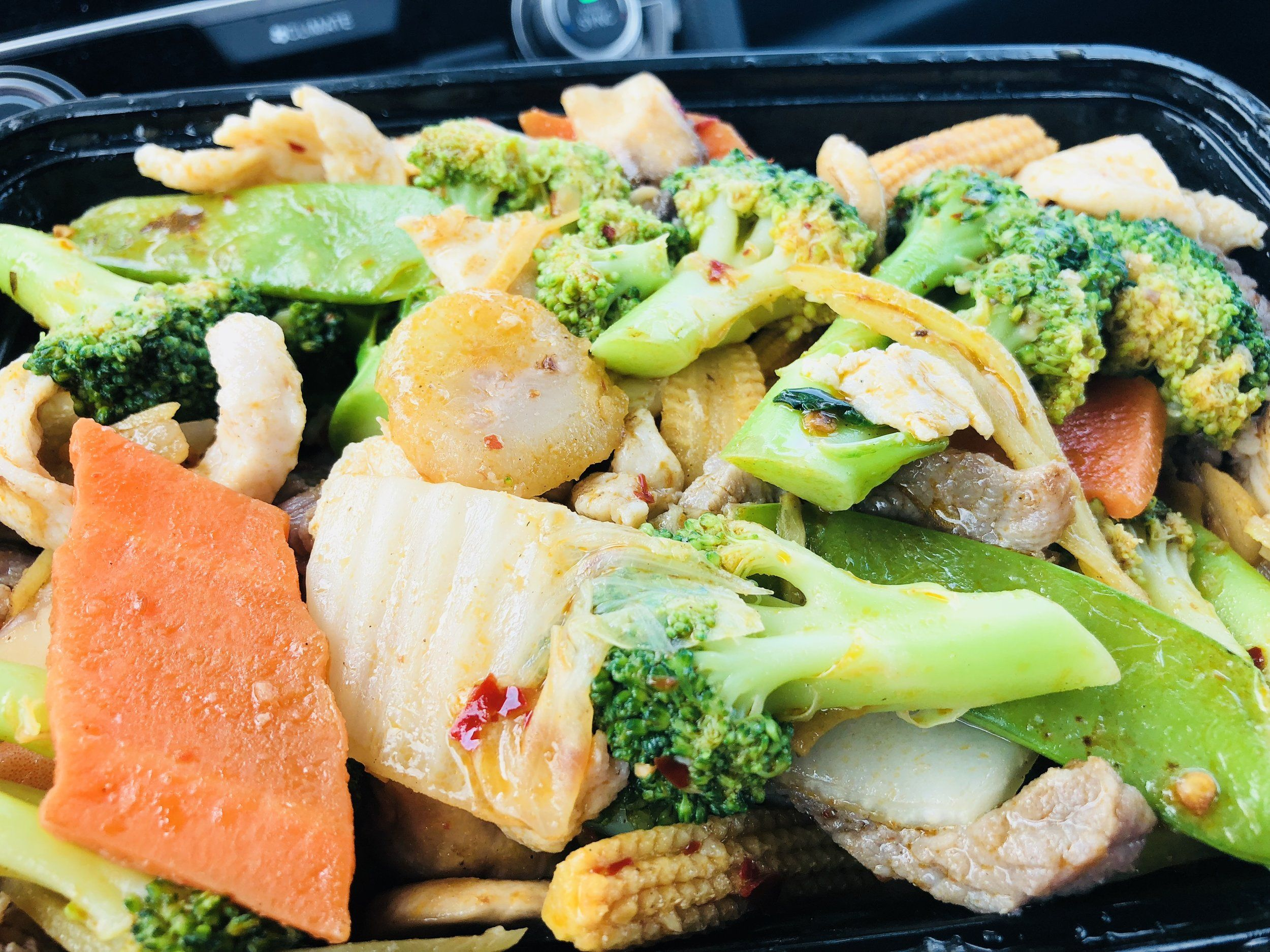 Keto friendly low carb chinese takeout triple delight
