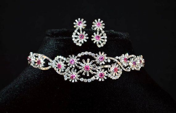 UNHEATED untreated certified natural 11.4CTS VS F diamond ruby 18k solid gold cocktail cluster riviera collar art deco bracelet necklace