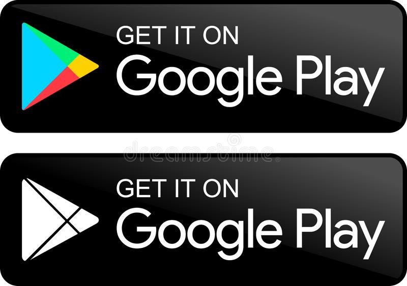 Google Play Store Icons Vector Illustration Google Play Store