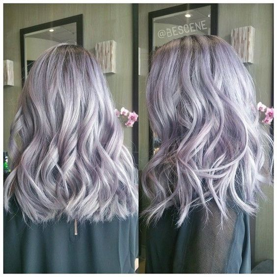 Lilac and silver hair                                                                                                                                                                                 More: