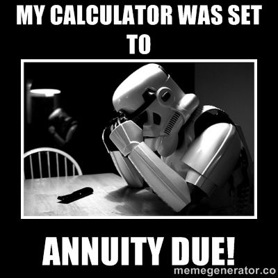 Check the settings on your calculator during an exam.