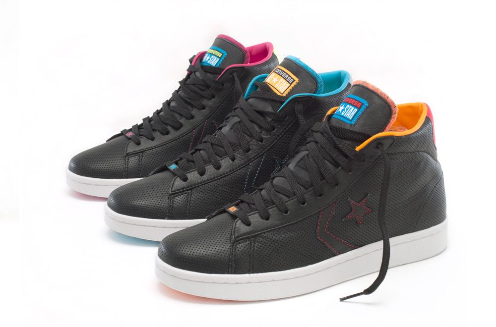992590a56def ... Stussy x Converse Sea Starnavy blue nylon Converse Pro Leather World  Basketball Collection ...