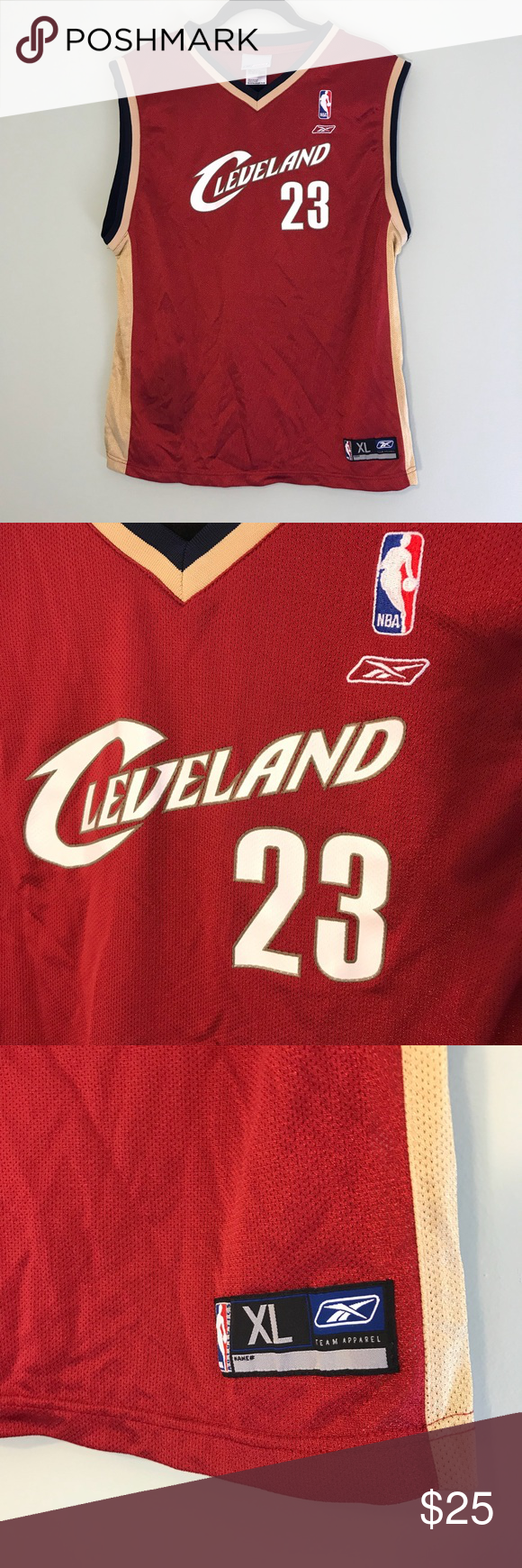 9ce155be52cc Lebron James Retro Colours Reebok Cleveland Jersey • Cleveland Cavaliers  23  Lebron James regular season NBA • Reebok Jersey • Youth XL • EUC (barely  worn) ...