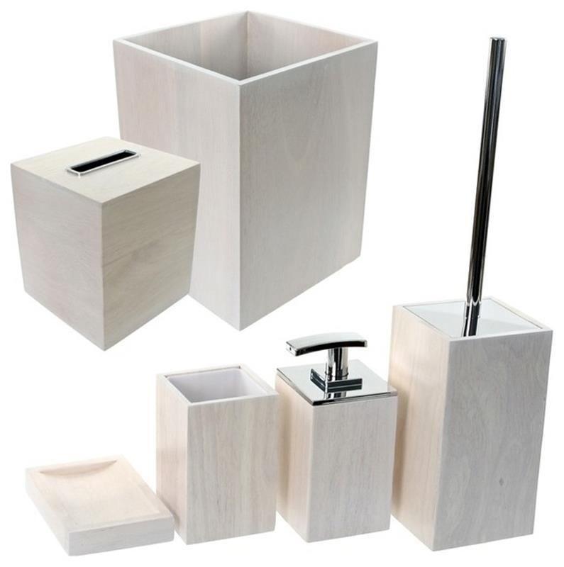 37 Perfect Wooden Bathroom Accessories Set  Wooden Bathroom Alluring Bathroom Accessories Sets Decorating Design