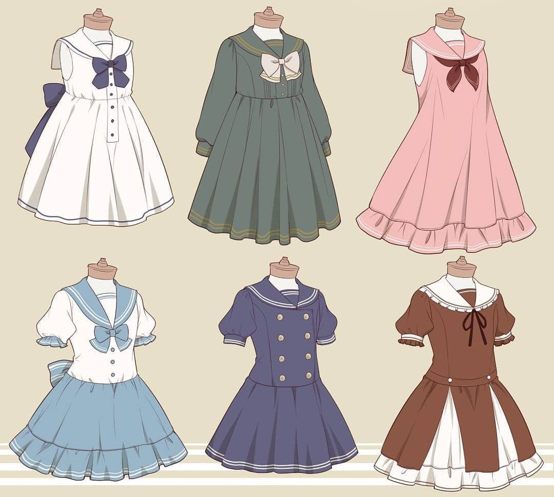 20 Simple And Easy Clothes Drawings How To Draw A Dress Step By Step Anime Dress Drawing Anime Clothes Clothes Design