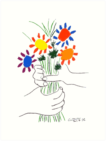 Pablo Picasso Bouquet Of Peace 1958 (Flowers Bouquet With