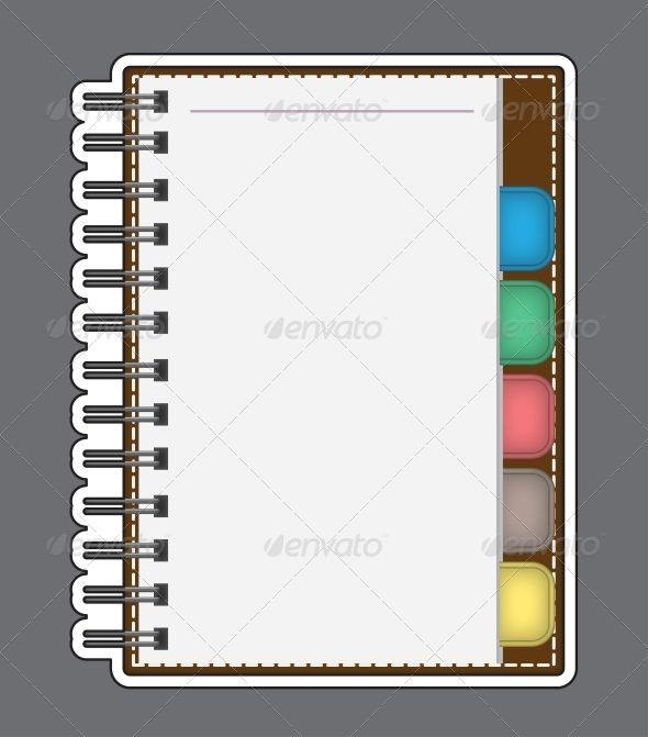 Blank Paper With Notebook Vector Outline  Business Design