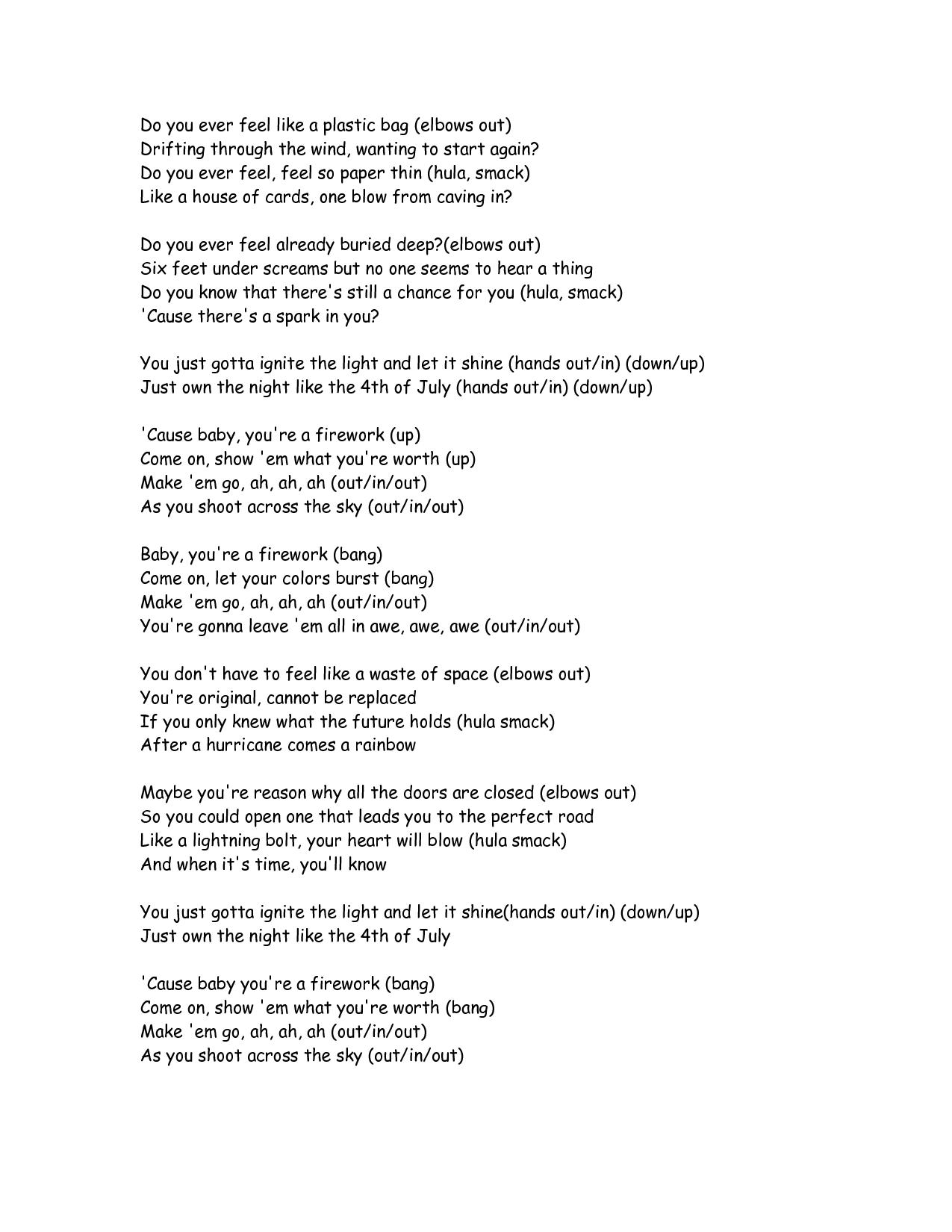 Firework Lyrics By Farryn24 Future Classroom Pinterest