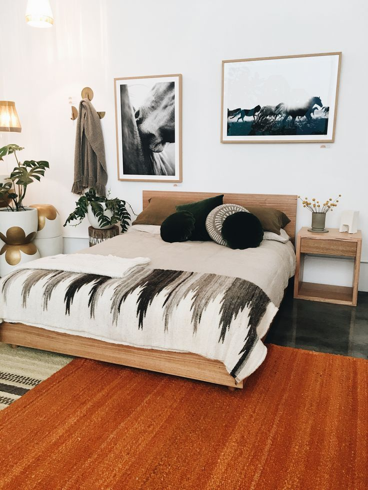 Boho Chic Bedroom Decor In Black White And Grey