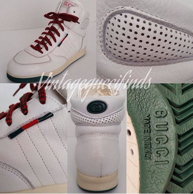 15fa58f8861 Rare vintage gucci white high top sneakers from the early 90 s ...