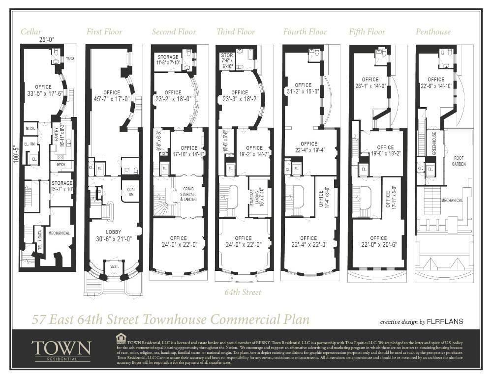 57 East 64th Street, $48 Million NYC Townhouse, Floor Plan