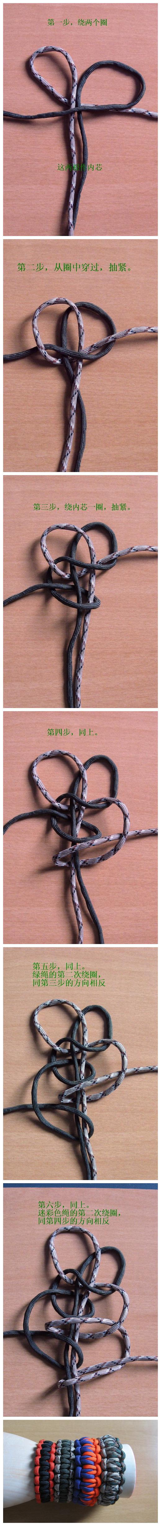 一款超酷的手工手链编织方法图解_来自ibyr的图片分享>>>what the...??? i'm happy there's pictures(: