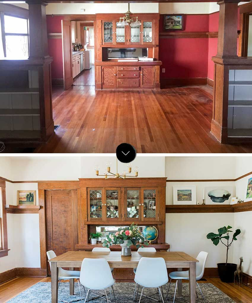Before And After Dining Room Reveals A Bright And