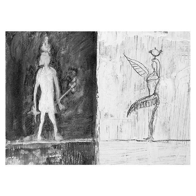 Isis & Osiris - another painting with a mythological background.⠀ ⠀ #isis #osiris #mythology #contemporaryart  #painting #artist #artcologne #art #acryl #kölnkunst #malerei #arte #artwork #contemporary_art #contemporarycurator #artgallery #drawing