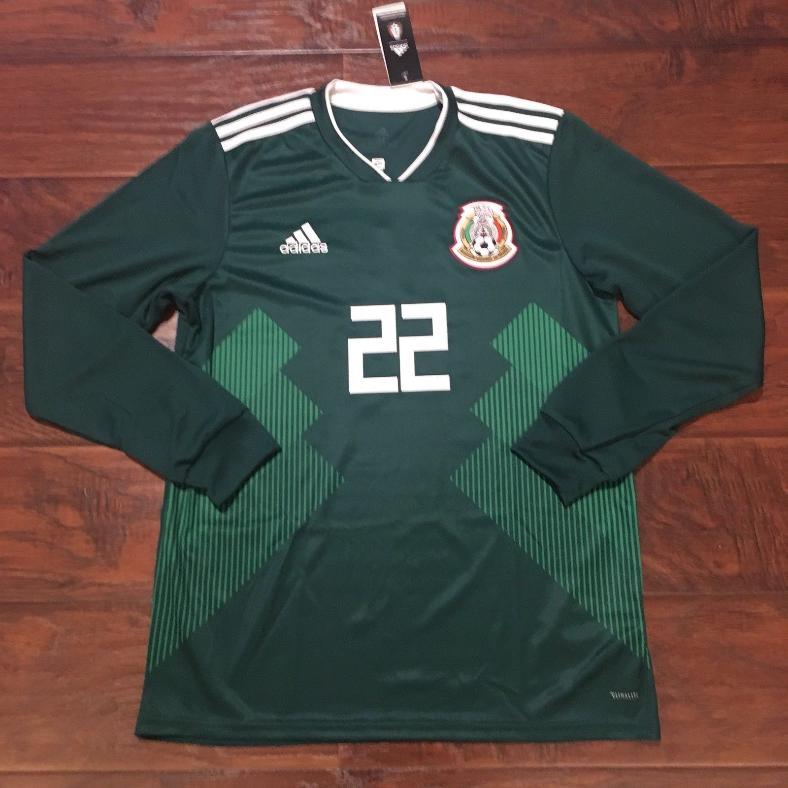 2018 Mexico Home Jersey  22 Hirving Lozano Medium LS Adidas World Cup  Soccer NEW Discount b63723317