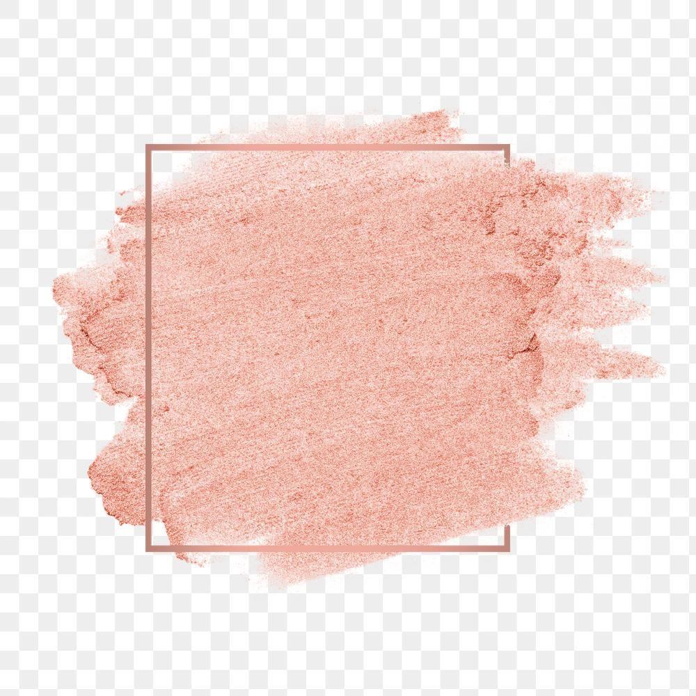 Rose Gold Pink Metallic Brush Stroke With Gold Frame Free Image By Rawpixel Com Karn Brush Stroke Png Brush Strokes Pink Watercolor