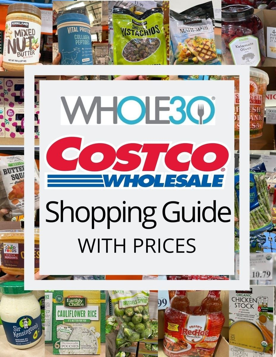 Whole30 Costco Grocery List With Prices In 2020 Whole 30 Costco