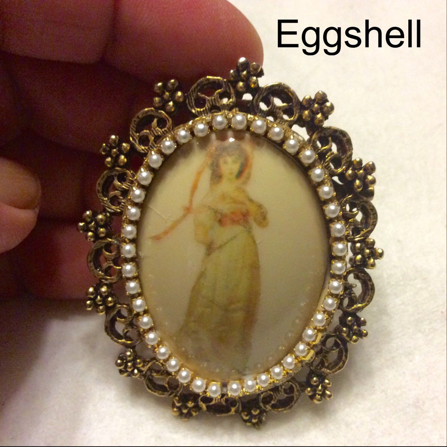 A personal favorite from my Etsy shop https://www.etsy.com/listing/270207513/vintage-1940s-eggshell-brooch-pin