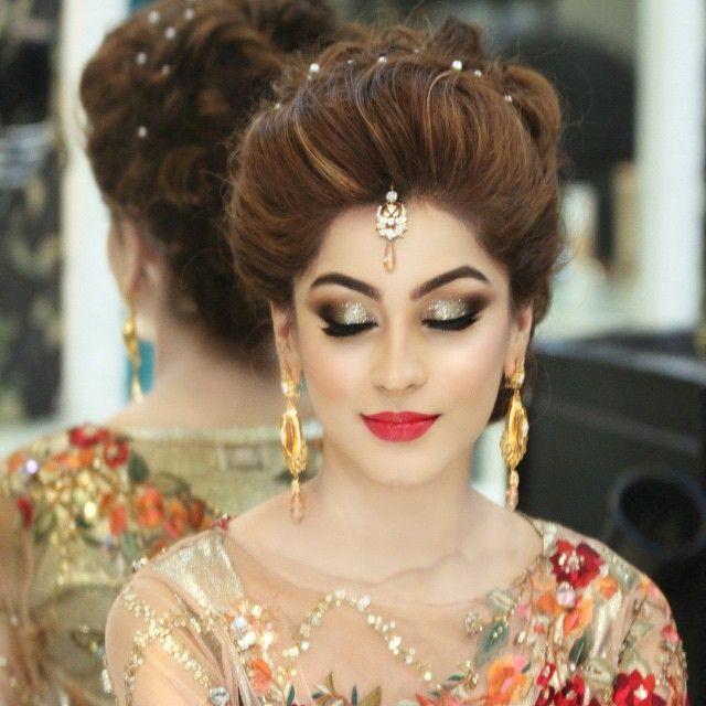 Pakistani Hairstyles Buns: Indian Wedding Makeup, Pakistani Bridal