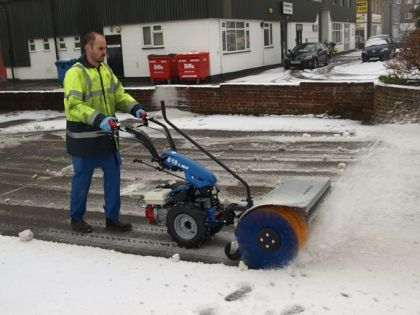 The Snow Brush is suitable for the BCS Two-Wheel Tractors