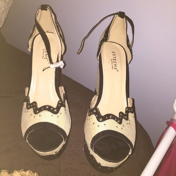 Wedges Never worn size 9 but could fit 9.5 Shoes Wedges