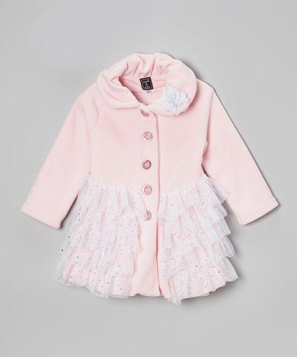 84d5e09a8651 Light Pink Ballerina Ruffle Fleece Coat - Toddler   Girls by Mack   Co   zulily  zulilyfinds