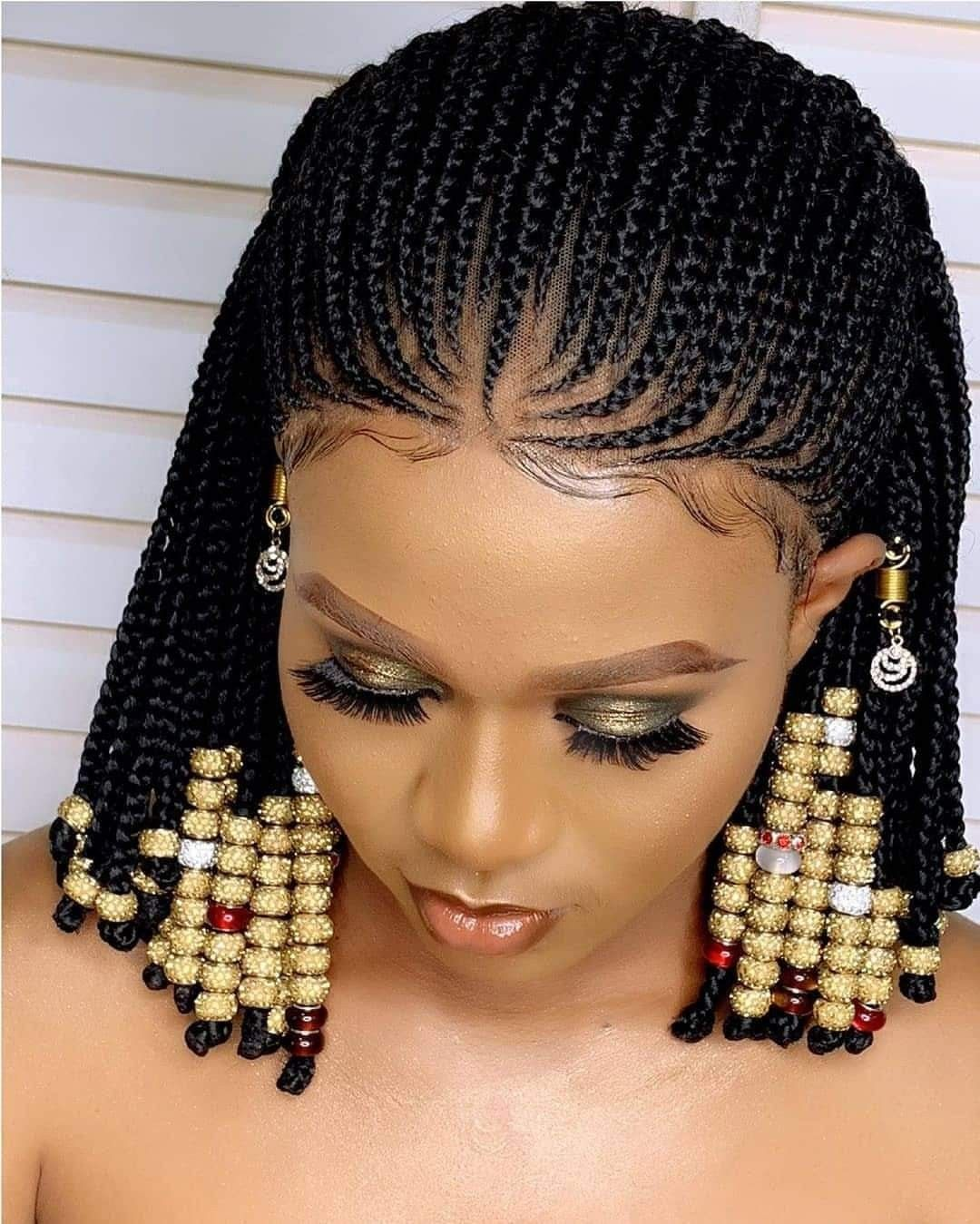 Pin By Merry Loum On Tresses Africaines Braided Hairstyles African Hair Braiding Styles Short Hair Styles