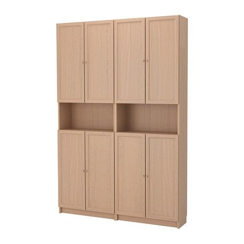Bookcase with extension BILLY / OXBERG, white, 160x30x237 cm – IKEA
