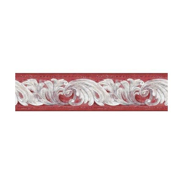 York Wallcoverings Bg1703bd Architectural Scroll Border Red White 29 Liked On Polyvore Featuring York Wallpaper Architecture Wallpaper Wallpaper Stores