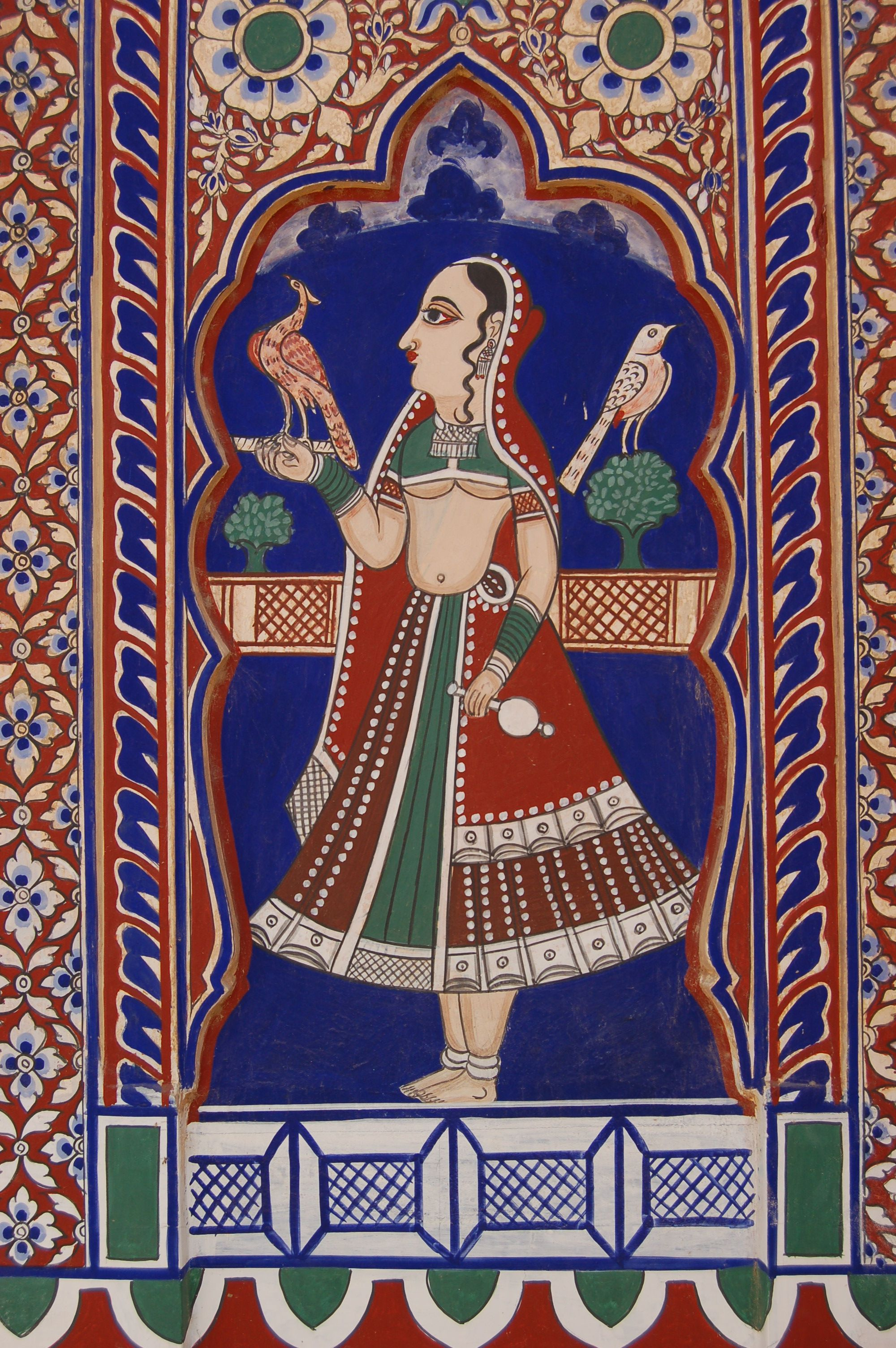 Pintura India Pintura De Una Haveli En Mandawa India Shekhawati Open Air Art