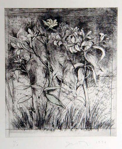 "Jim Dine  ""Superb Lilies"" Print"