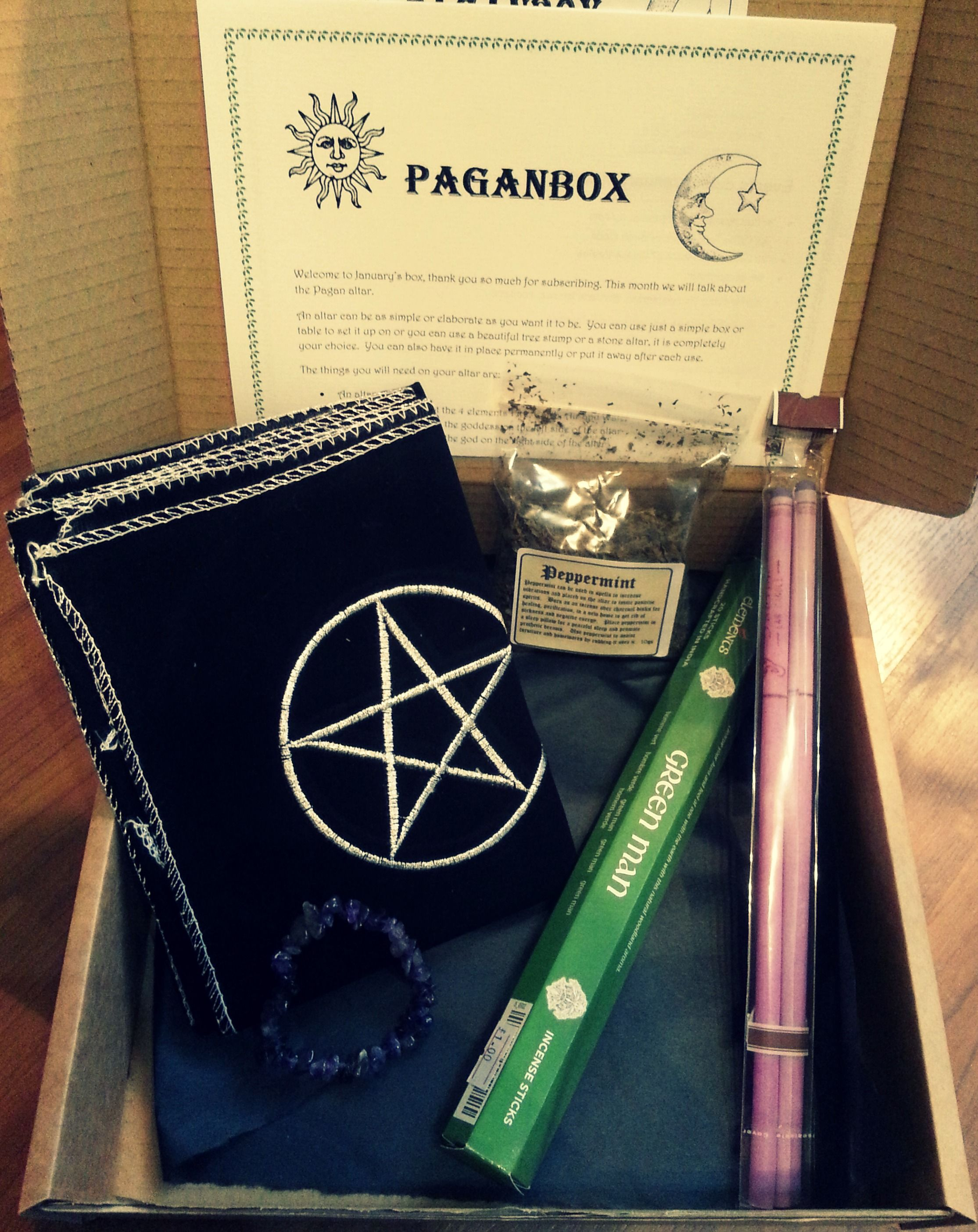 January Paganbox A Monthly Subscription Box From Wwwpaganboxcouk That Includes