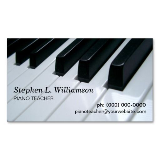 Piano teacher business card teacher business cards and business cards piano teacher business cards colourmoves