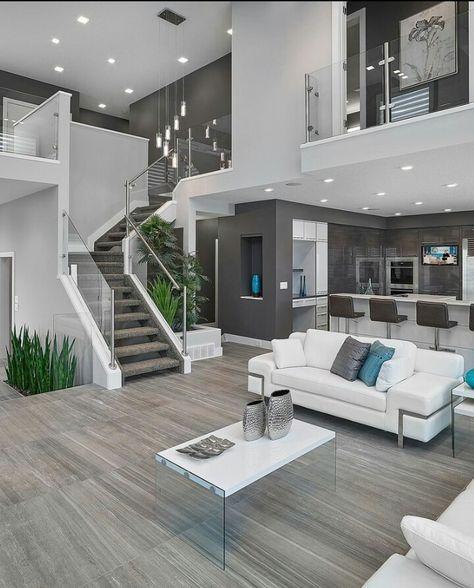 Pin von gellifred auf living interieur | Maison design, Maison ...