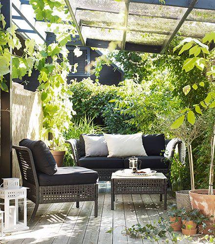 plantas sofás exterior Ideas para el hogar Pinterest Terrazas - decoracion de terrazas con plantas